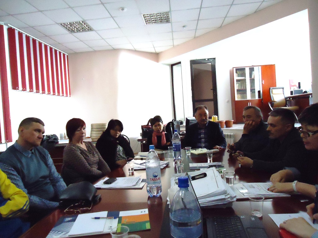 The UNDP Experts meeting with the Uteks Property Developer Company